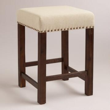 Linen Greyson Backless Counter Stool, Set of 2