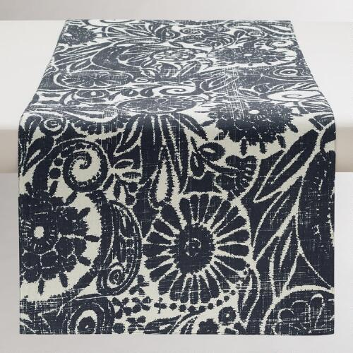 Indigo Ikat Amsala Table Runner