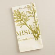Botanical Artemisia Tea Towel