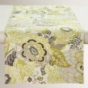 Green and Gray Floral Bambini Table Runner