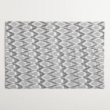 Black and White Ikat Placemats, Set of 4