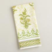 Green Block Print Kitchen  Towel
