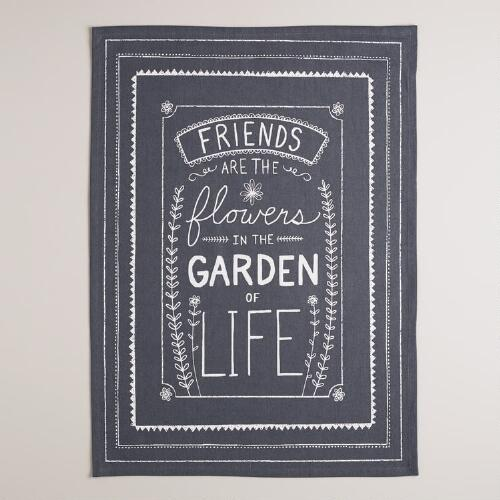 Chalkboard Friends Kitchen Towel