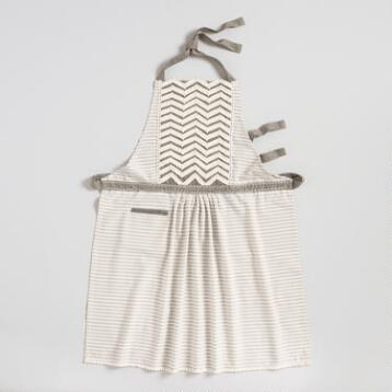 Striped Twill Chevron Apron