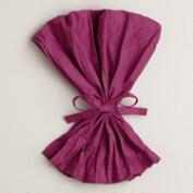 Fuchsia Crinkle Napkins, Set of 4