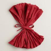 Red Crinkle Napkins, Set of 4