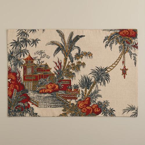 Global Toile Placemats, Set of 4