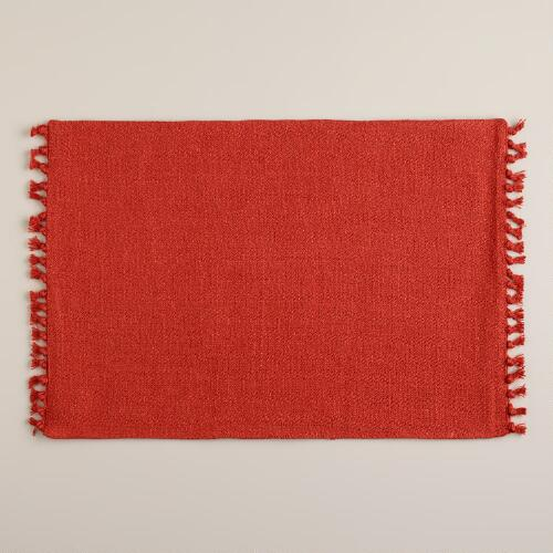 Spice Herringbone Placemats, Set of 4