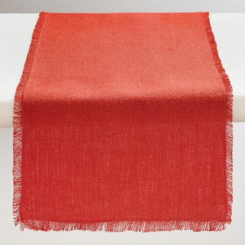 Oversized Spice Herringbone Table Runner