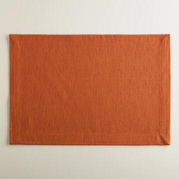 Flame Khadi Placemats, Set of 4