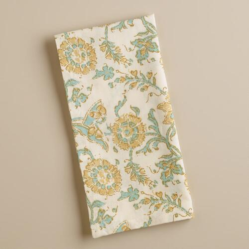 Floral Napkins,  Set of 4