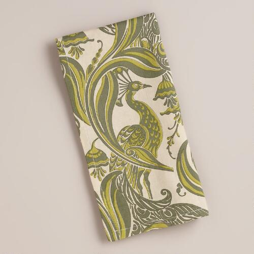 Pastoral Birds Napkins, Set of 4
