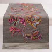Sahara Bloom Embroidered Table Runner