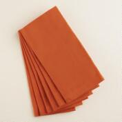 Flame Orange Buffet Napkins, Set of 6