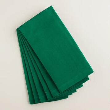 Winter Green Buffet Napkins, Set of 6