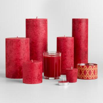 Asian Poppy Candles