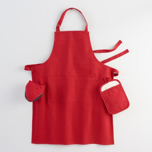 Barn Red Gourmet Classic Kitchen Linen Collection