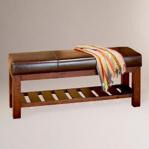 Sienna Bi-Cast Leather Bench