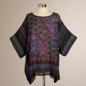 Multicolored Oona Paisley Kaftan Shirt