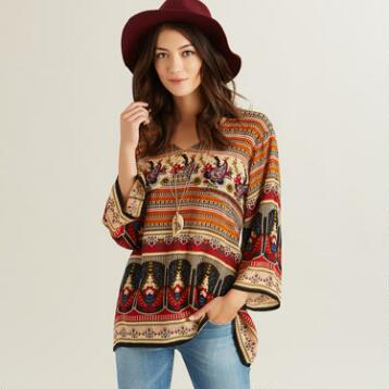 Multicolored Boho Bianca Top