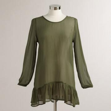 Olive Olivia Lace Back Tunic Top