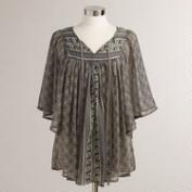 Gray Maria Flowy Blouse