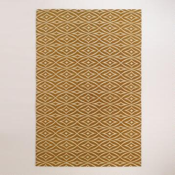 Elsie Wavy Diamond Jute Boucle Area Rug