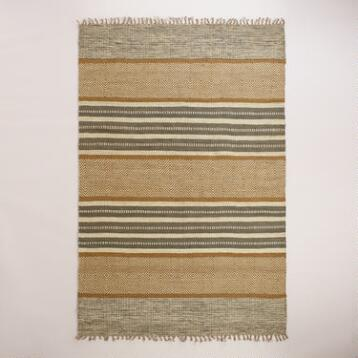 Gray and Natural Ellie Jute Area Rug