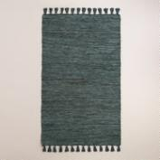 5'x8' Stargazer Blue Kacia Leather Area Rug
