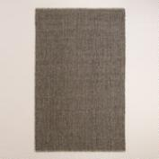 Charcoal Emilie Flatweave Sweater Wool Area Rug