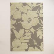 Abelia Floral Tufted Wool Area Rug