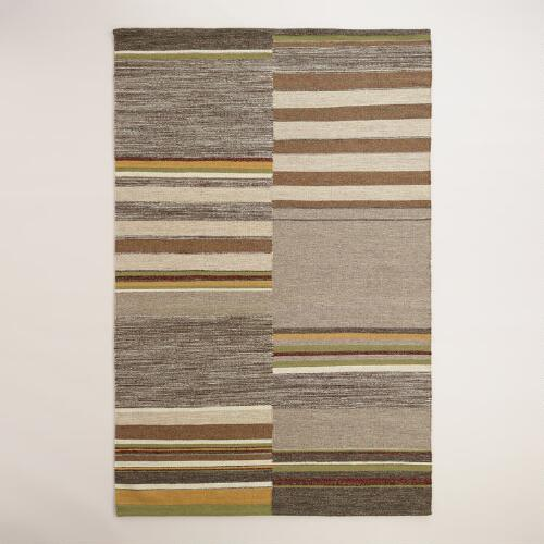 Remi Off-Placed Stripe Kilim Area Rug