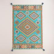 Blue Odina Kilim Flatweave Indoor-Outdoor Rug