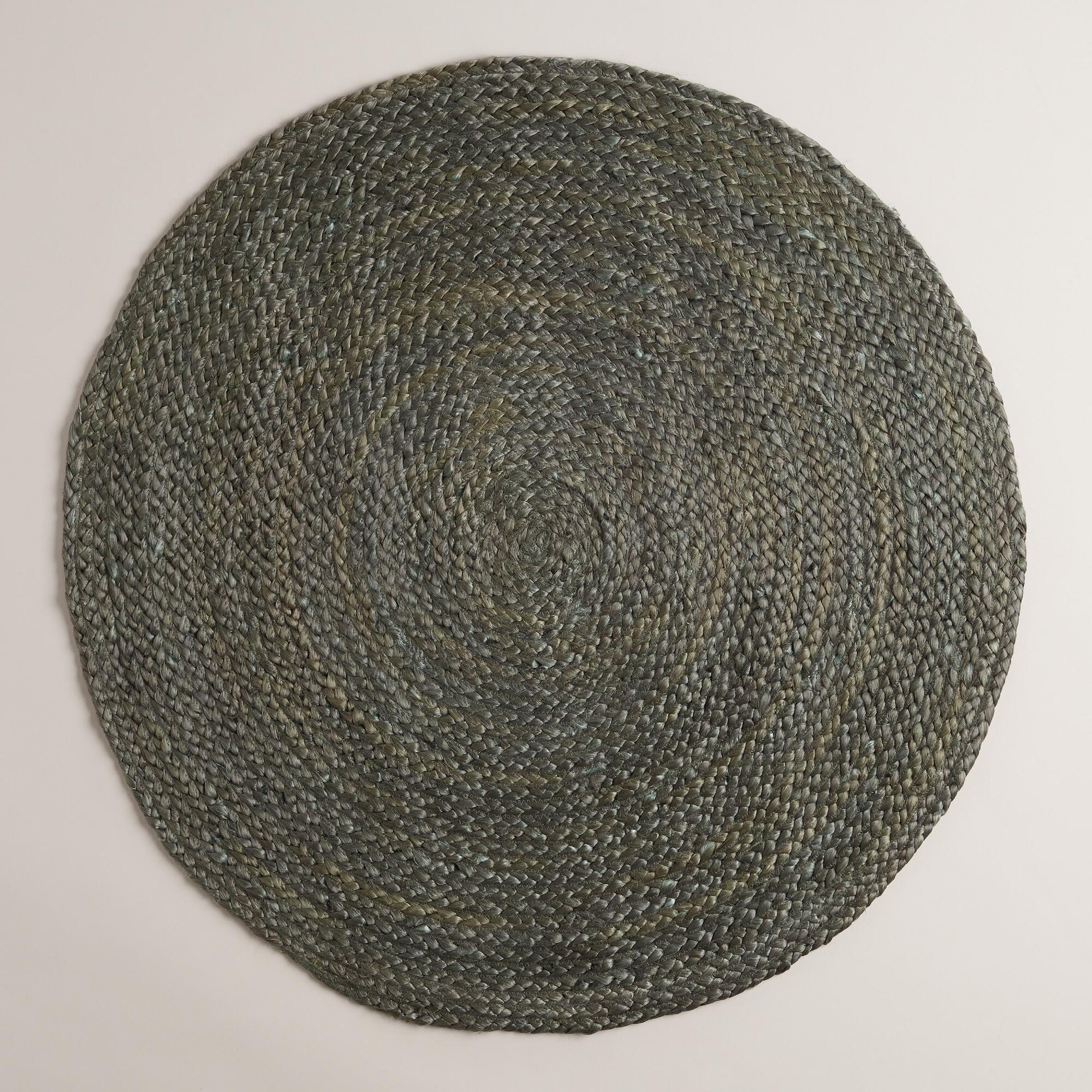 Gray Round Braided Jute Area Rug World Market