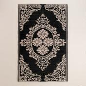 Black and White Urban Easy Care Floor Mat