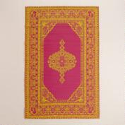 Pink and Yellow Persian Urban Easy Care Floor Mat