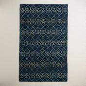 5'x8' Nadia Embroidered Tile Felted Cotton Area Rug