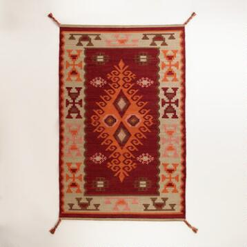 Red Odina Kilim Indoor-Outdoor Rug