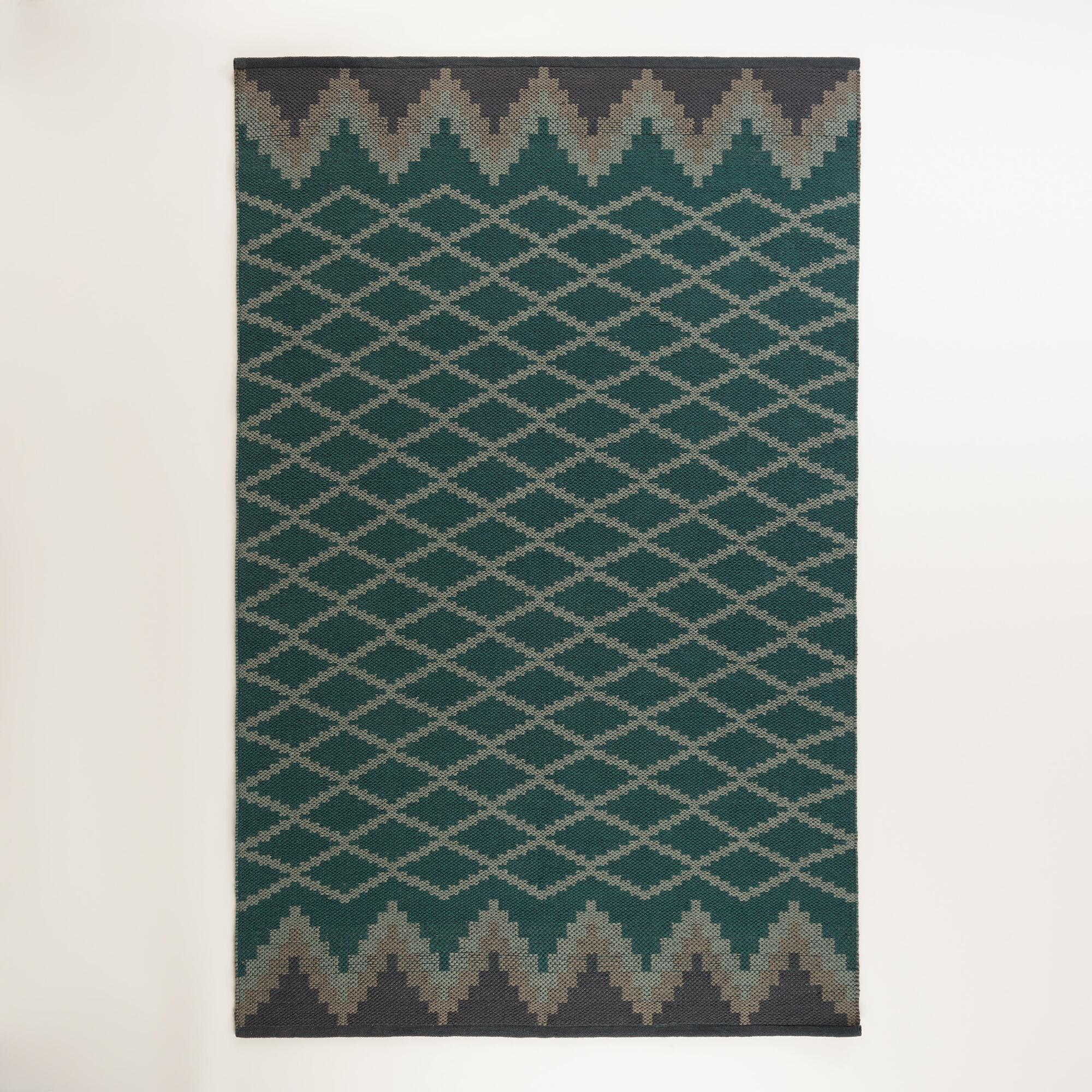 Nadine Lattice Flatweave Indoor-Outdoor Rug | World Market - photo#32
