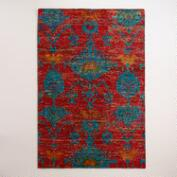 Rita Ikat Hand-Knotted Area Rug
