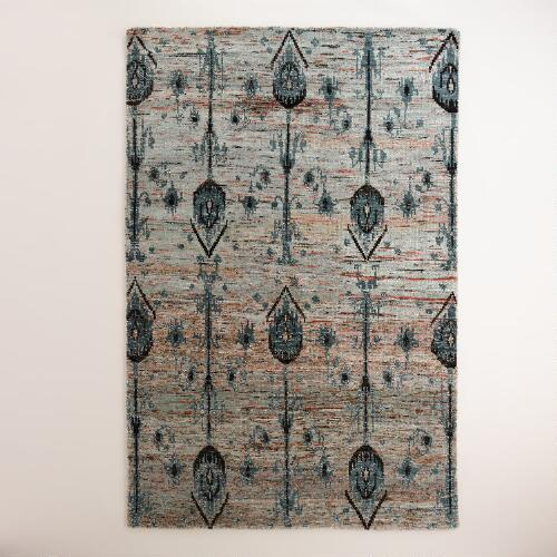 Amina Ikat Hand-Knotted Wool Area Rug