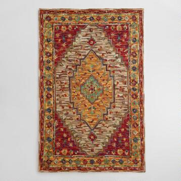 Zahra Caravan Tufted Wool Area Rug