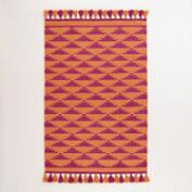 4'x6' Pink and Orange Kaia Flatweave Wool Area Rug