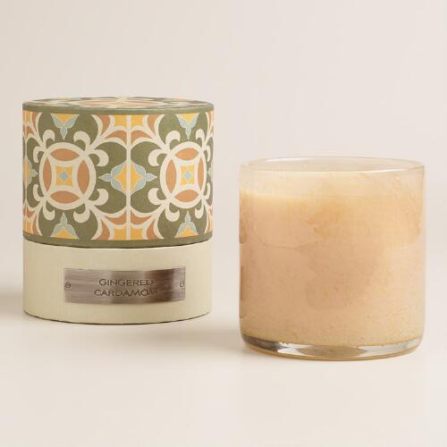 Gingered Cardamom Filled Jar Boxed Candle