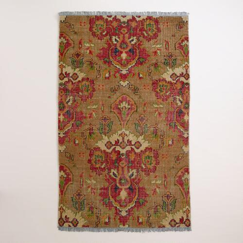Ophelia Floral Hand-Knotted Wool Area Rug