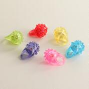 Light-Up Spikey Rings, Set of 6