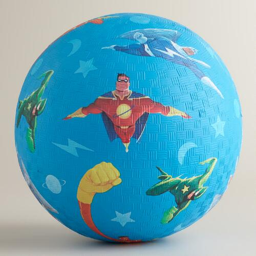 Crocodile Creek Superheroes Playground Ball 7""