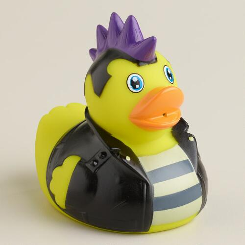 Punk Rubber Duck Bath Toy