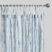 Blue Kashvi Crinkle Sheer Voile Curtains Set of 2