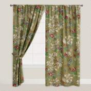 Bucolic Floral Tab Top Curtain
